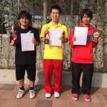 一般男子C級シングルス 第1~3位