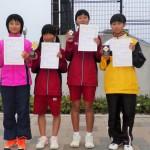 中学1年生女子(1位、2位、3位、3位)